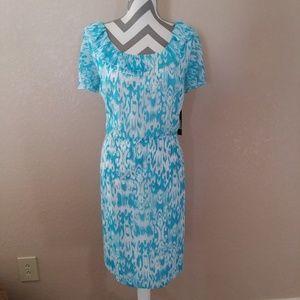 Alex Marie Dresses - Alex Marie Blue White Ruffle Midi Dress 16 Plus